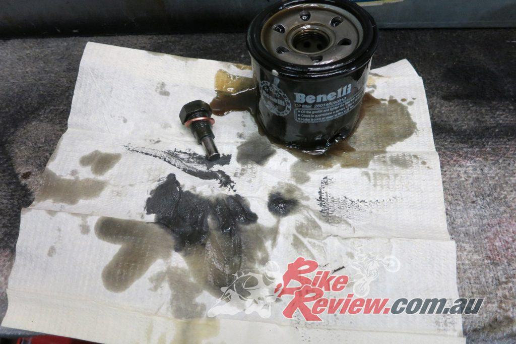 The oil filter and magnetic sump plug are crucial to keeping your engine safe from debris during its early life.
