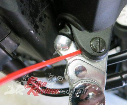 Front brake pivot.