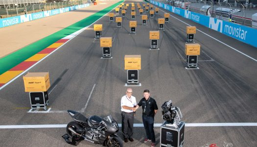 Triumph Moto2 engine handover at Aragón GP