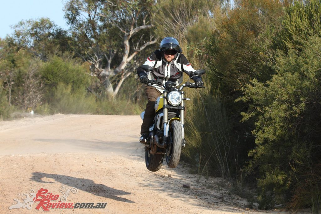 Jumping the Scrambler 1100 was fun but I would not recommend you punish your bike like this, it is not designed for jumps!