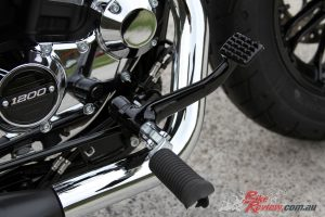 Forward controls on the FortyEight Special felt instantly natural to me, with easy gear changes and brake input