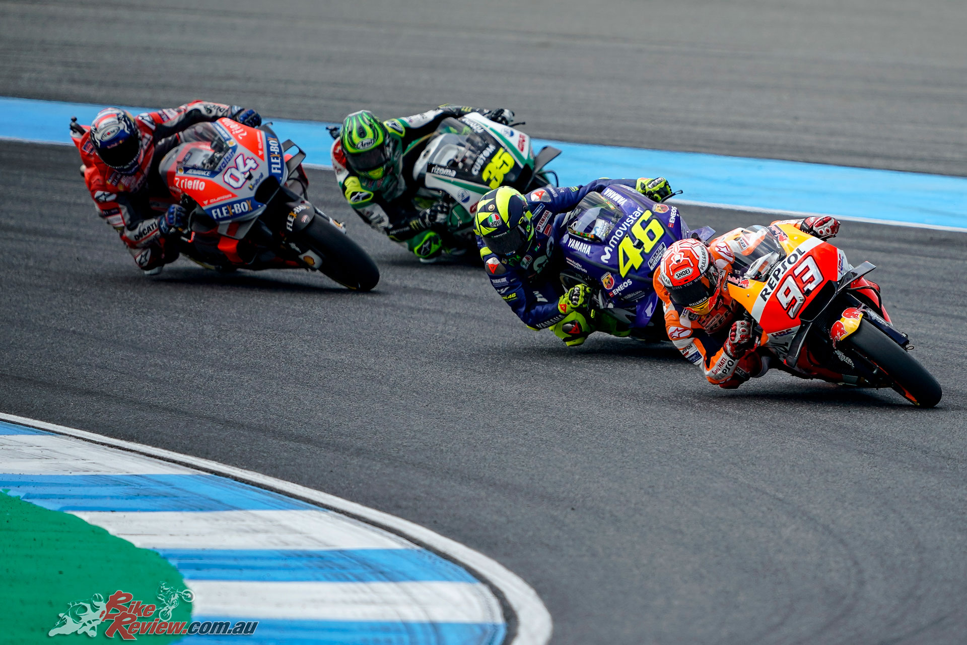 Marc Marquez in the lead