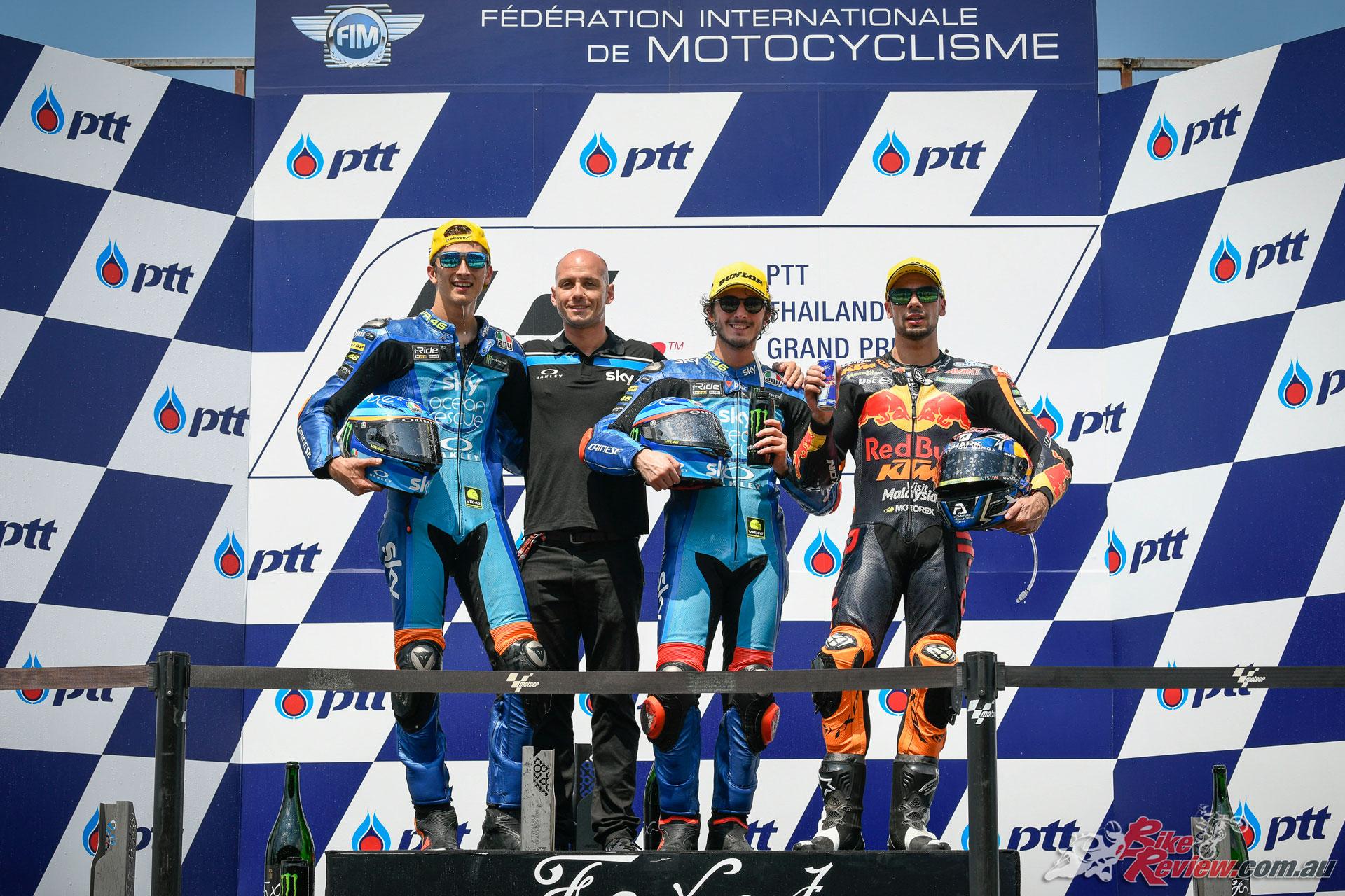 MotoGP Round 15 Thailand - 2018 - Moto2 Podium