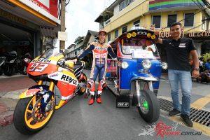 Marc Marquez in Thailand ahead of the MotoGP round