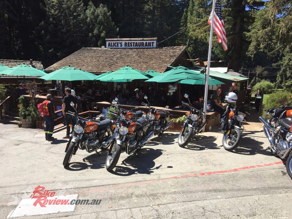 The first ride day included a lunch stop at the famous Alice's Restaurant.