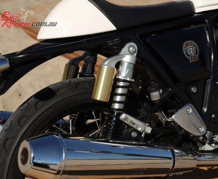 Royal Enfield Continental GT 650 - Rear shock and exhaust