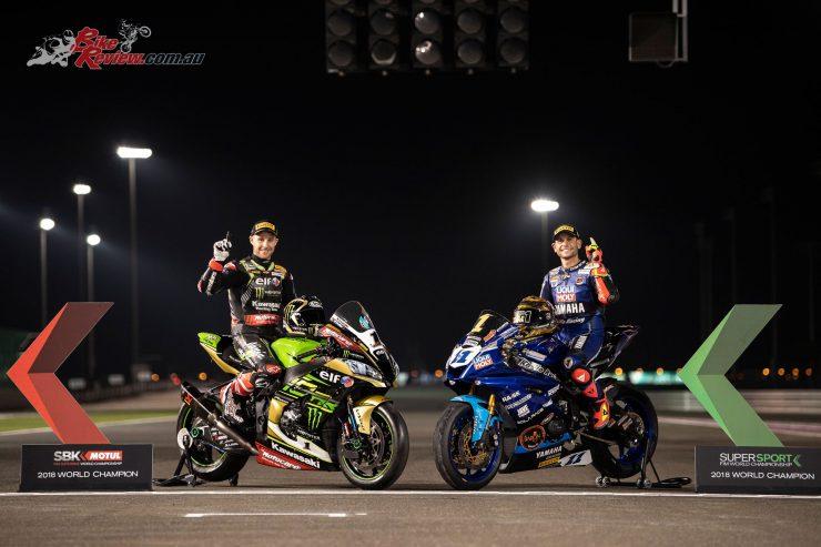 Sandro Cortese crowned World Supersport Champion at Qatar, joining Jonathan Rea, 2018 World Superbike Champion
