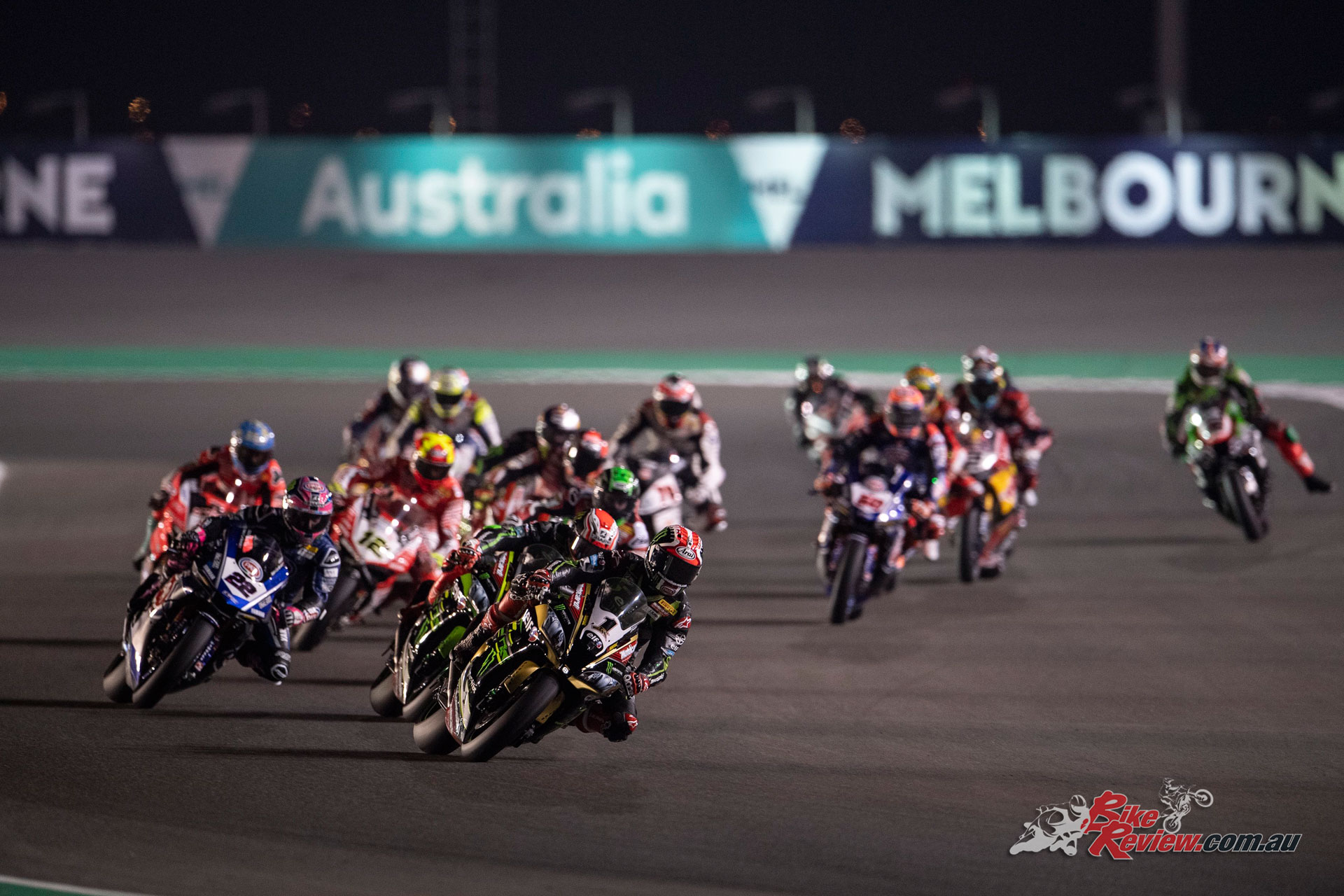 Jonathan Rea in the lead - Image by 2Snap/GeeBee