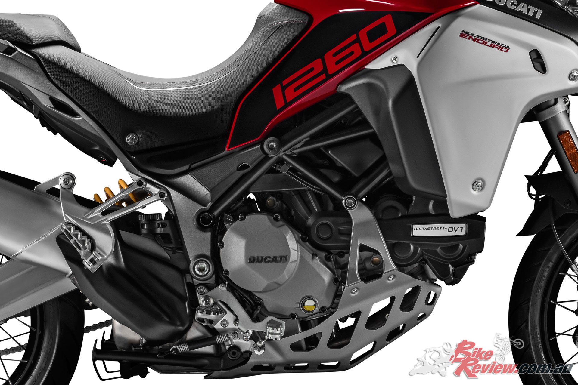 The 2019 Multistrada Enduro will boast the 1260 Testastretta DVT powerplant