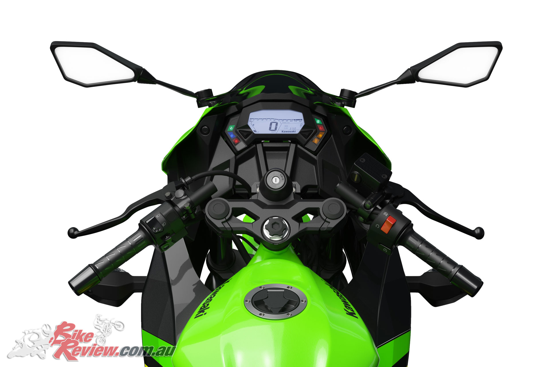 2019 Kawasaki Ninja 125 - The Ninja offers an aggressive clip-on style 'bar assembly