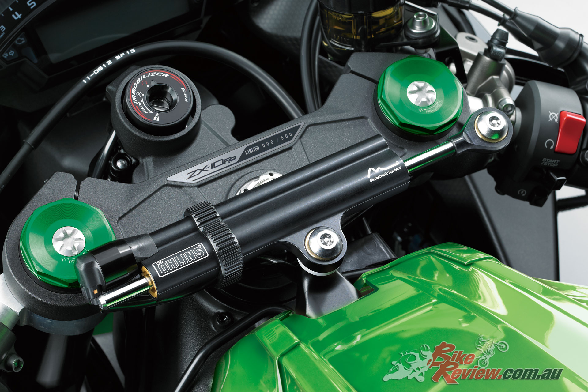 2019 Kawasaki ZX-10R - Ohlins electronic steering damper is now standard fitment on all models