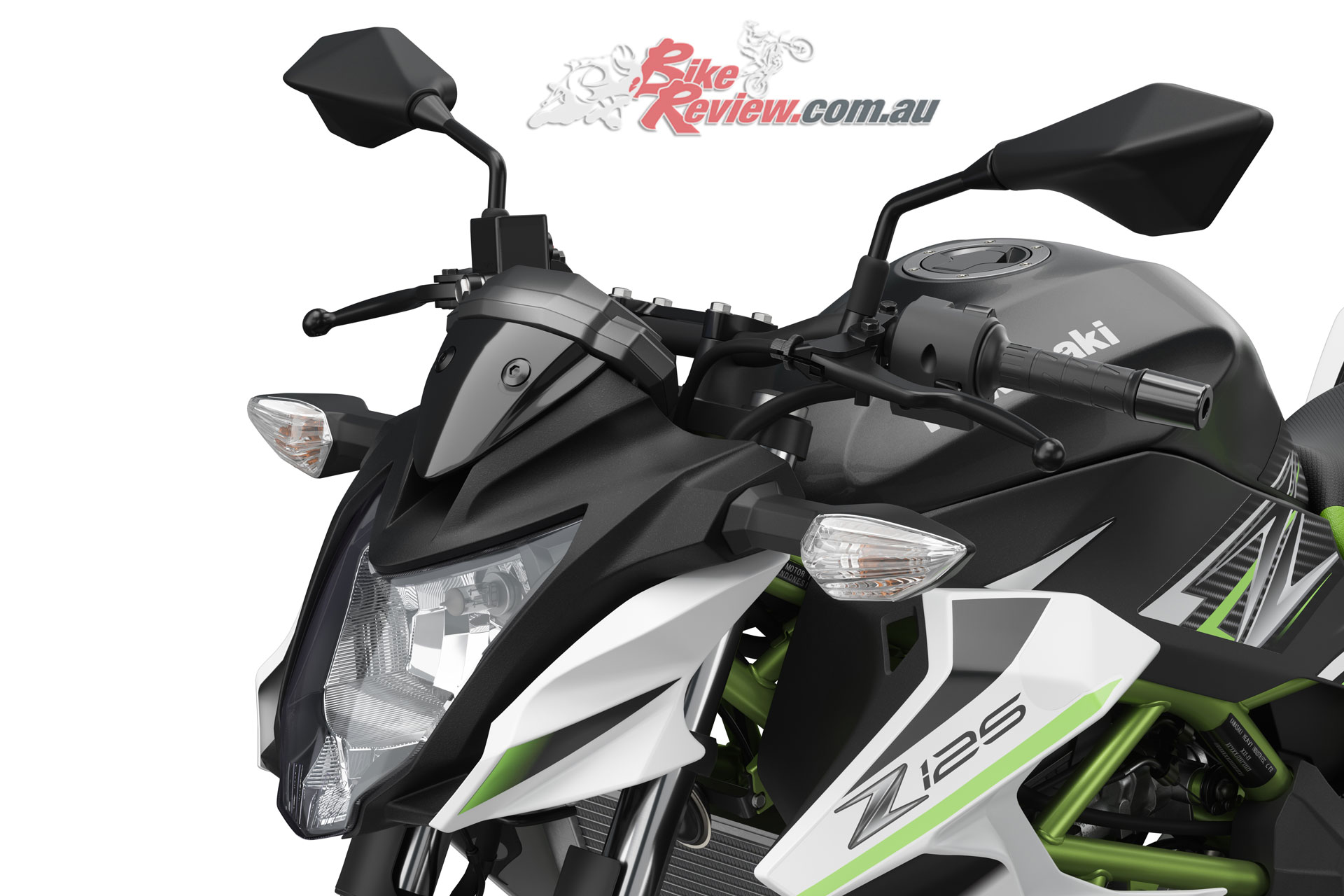 2019 Kawasaki Z125 - The Z125 on the other hand features more upright 'bars and as a result, seating position