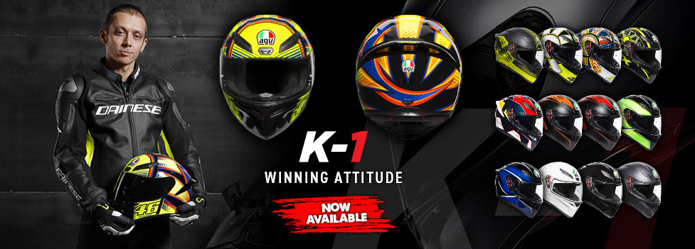 AGV's new K-1 Helmet is available now!