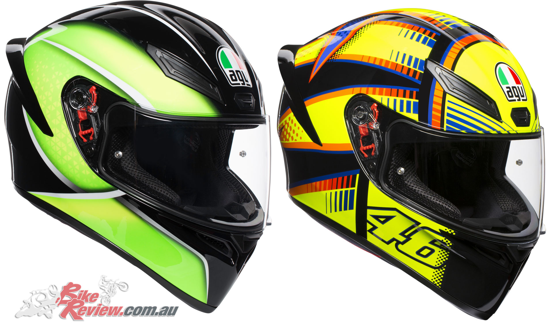 AGV K-1 Helmet - Qualify Black Lime, Soleluna