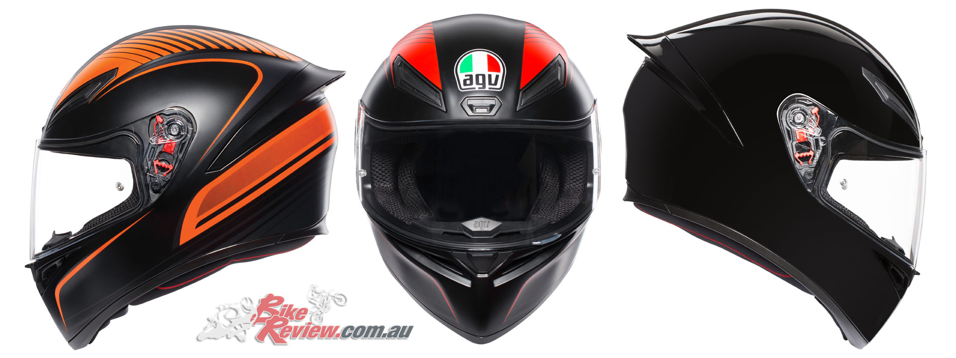 AGV K-1 Helmet - Warmup Black Orange, Warmup Black Red, Black
