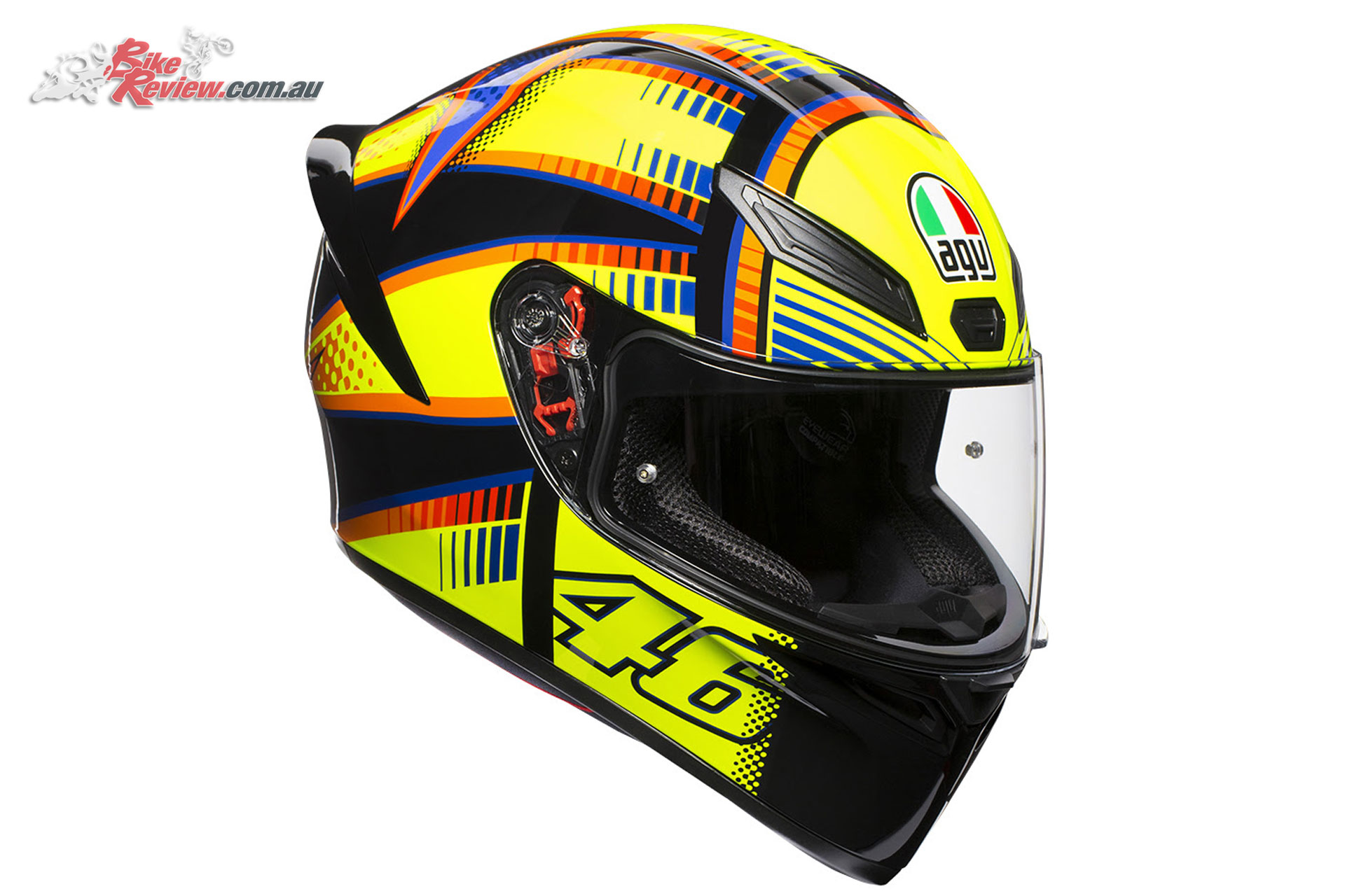 AGV K-1 Helmets will also be provided, also with an option to upgrade