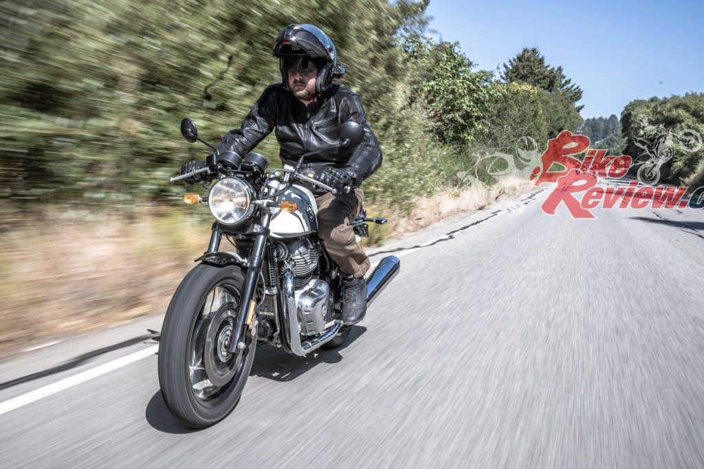 The GT has clip-on style 'bars and cafe racer styling but aside from that shares the same chassis and engine as the Interceptor. Both bikes are equally capable over a wide range of conditions so choosing a model would be a matter of personal choice and comfort.