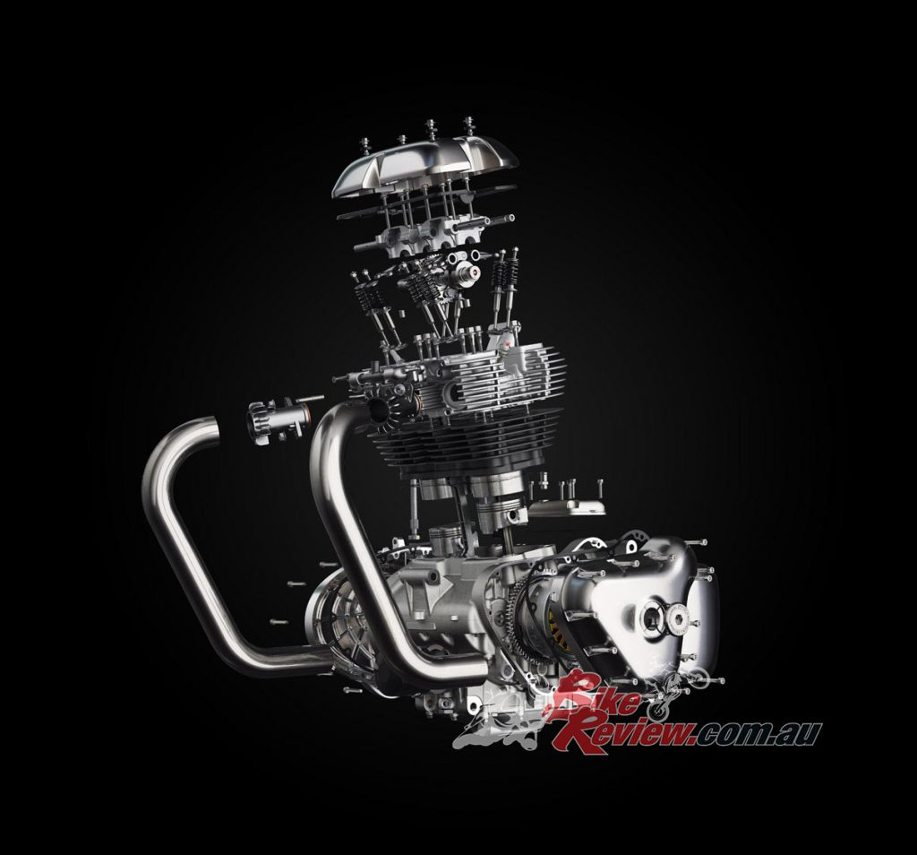 The 648cc parallel twin has a 270º firing order and 80 per cent of torque is on hand from 2500rpm.