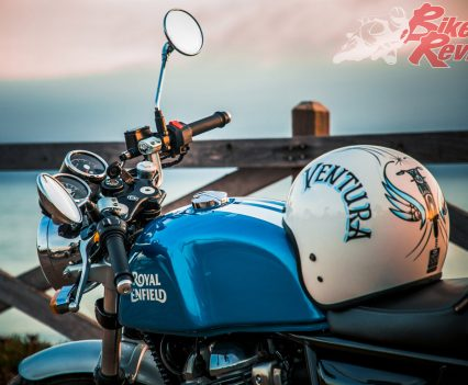 Paul Ventura was project leader of the 650 Twins but sadly was taken in a bike accident earlier this year. This tribute colour and helmet was on show for Paul...