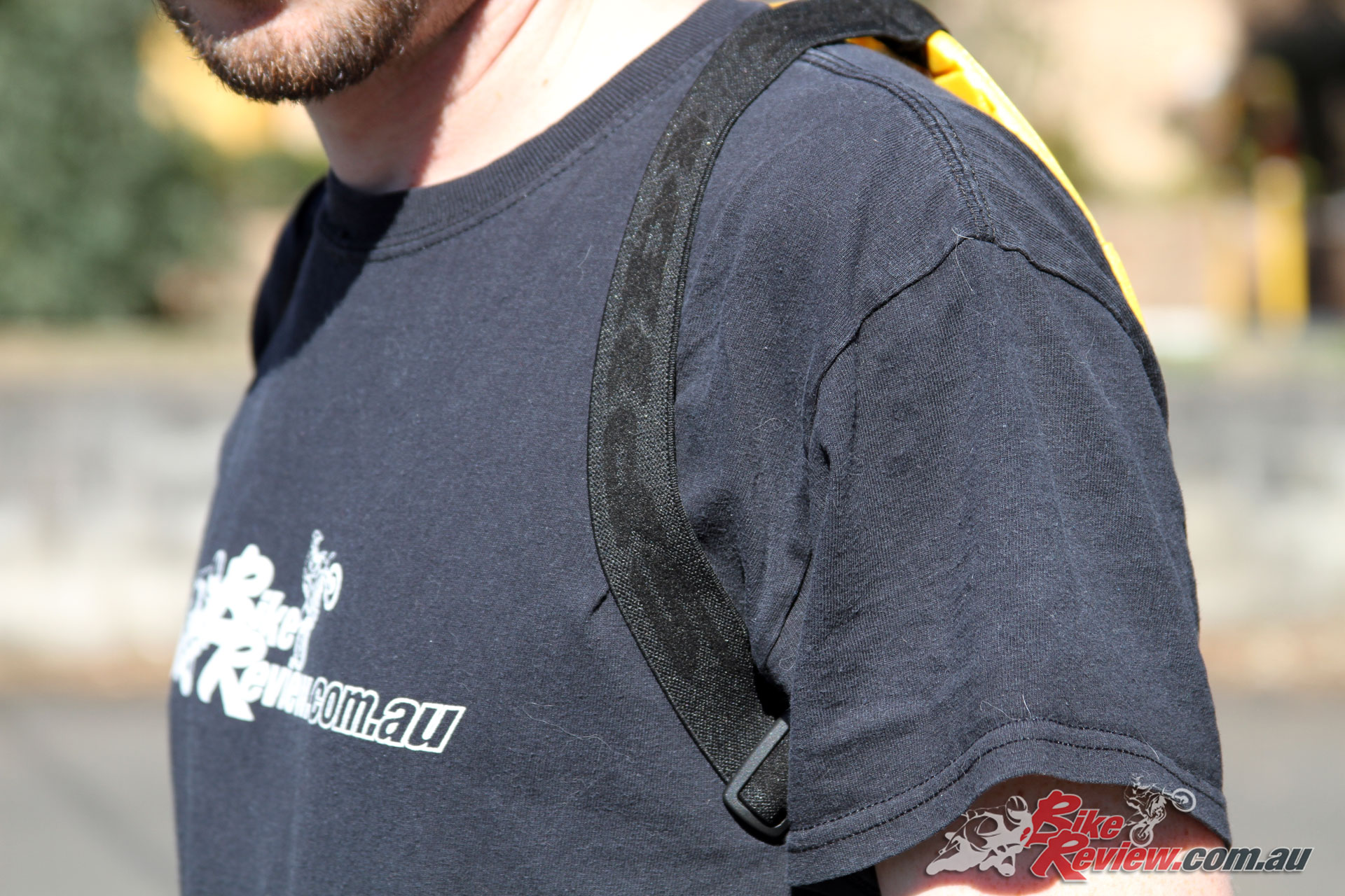The Spidi Back Warrior EVO shoulder straps are ideal for comfort and are adjustable with a buckle