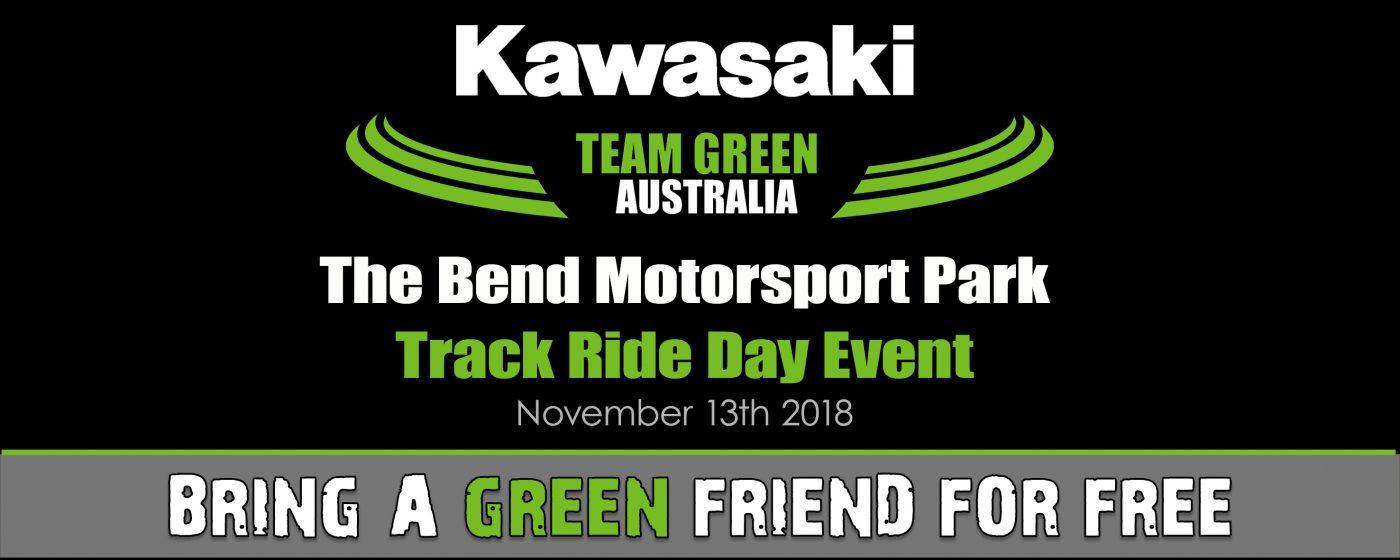 Kawasaki Team Green Australia - Ride Day 'Bring a Green Friend for Free' offer