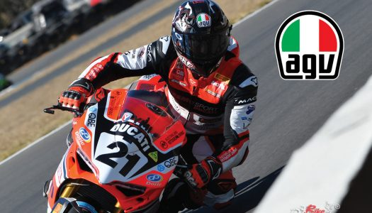Troy Bayliss joins AGV display at MotoGP on Sunday