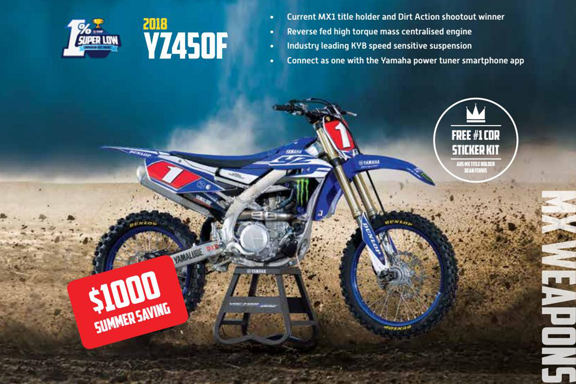 Great savings available on the 2018 YZ450F