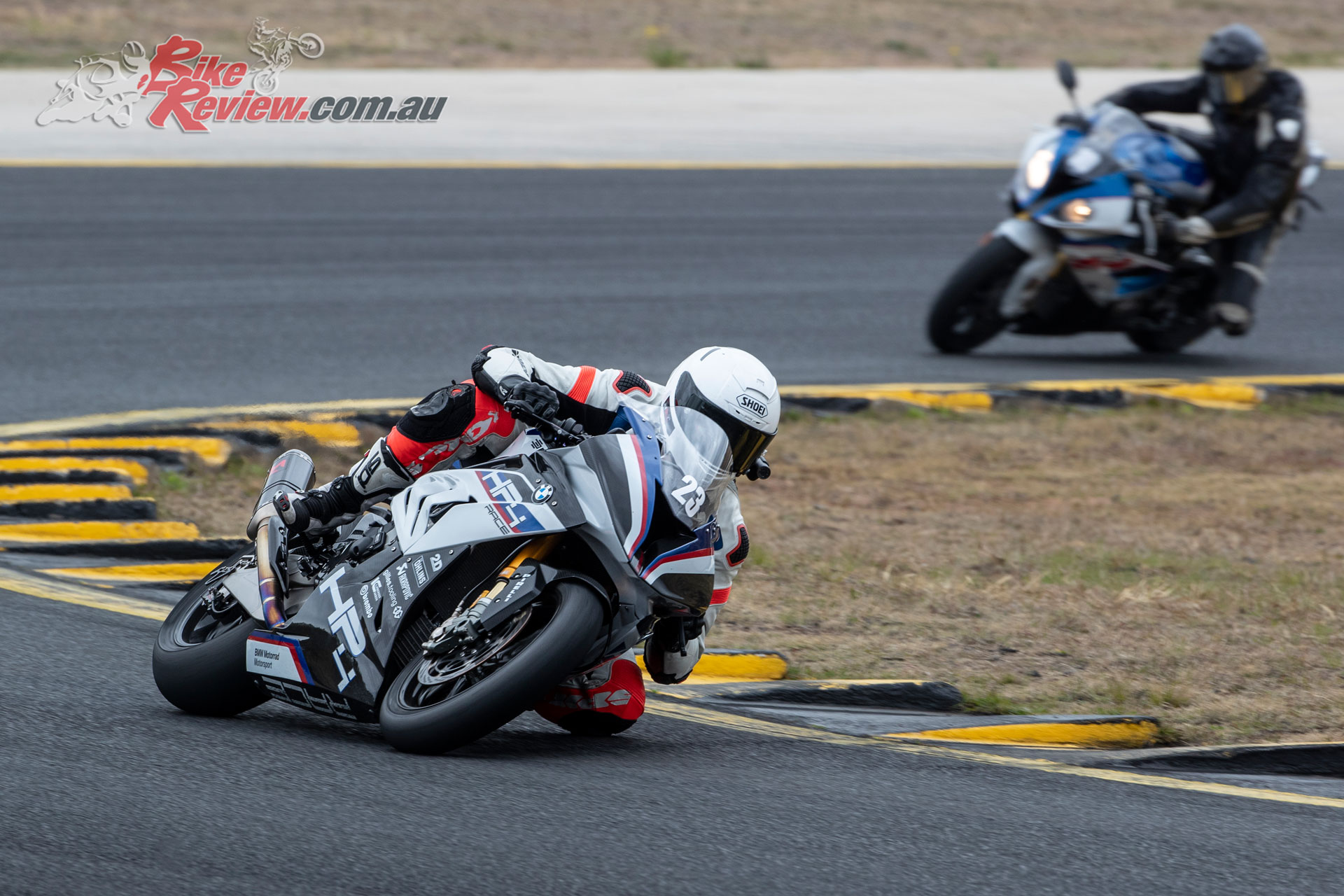 Jeff testing out the BMW HP4 Race at Sydney Motorsport Park
