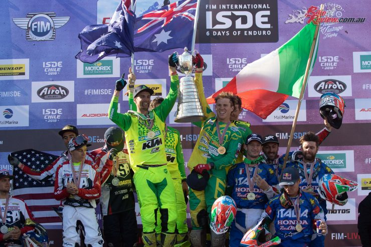 Team Australia win the 2018 ISDE