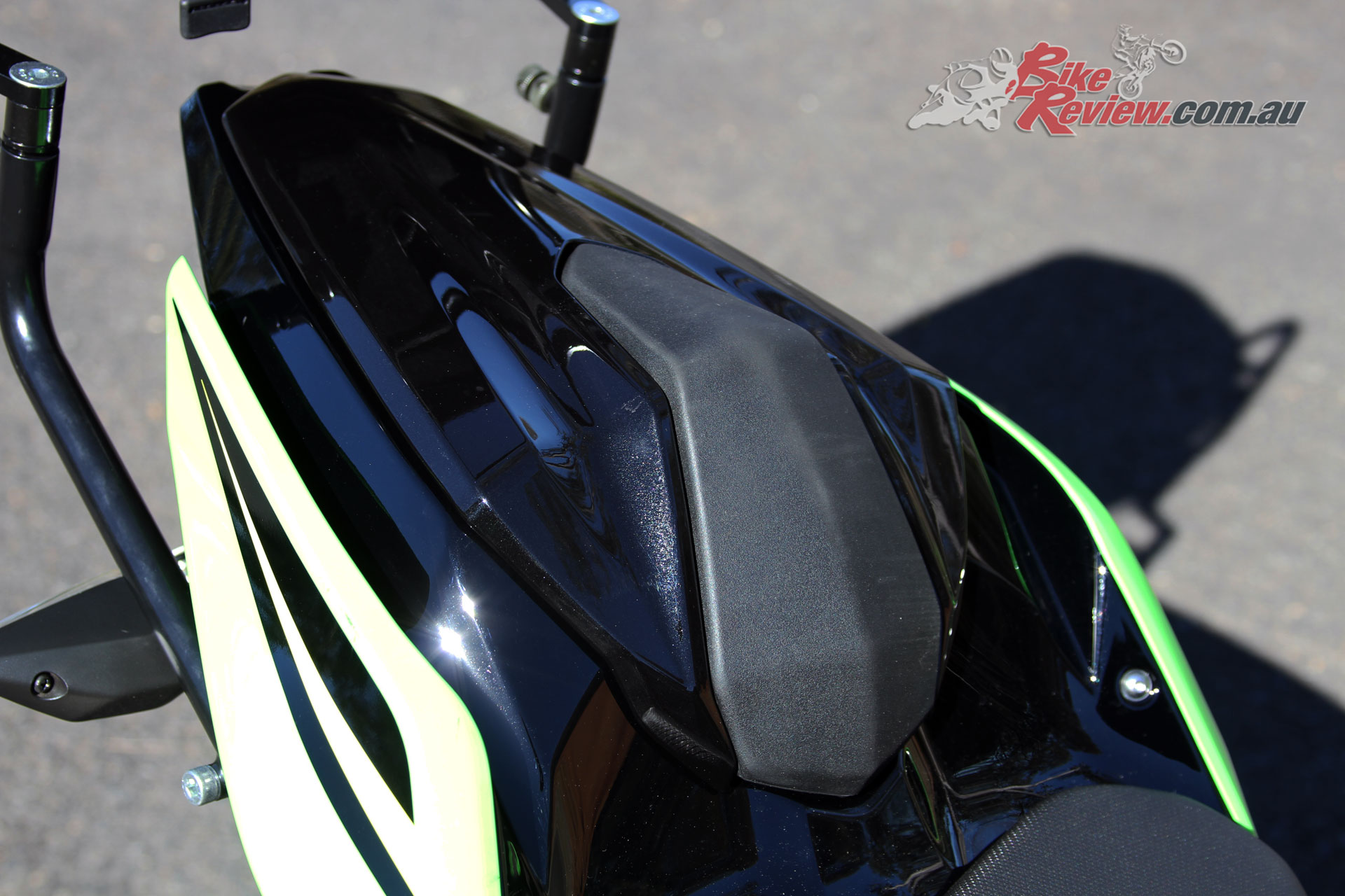 Genuine Kawasaki Seat Cowl on our Long Term Ninja 400