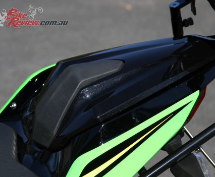 $200 for the colour-matched Kawasaki seat cowl is pretty good value in my book!