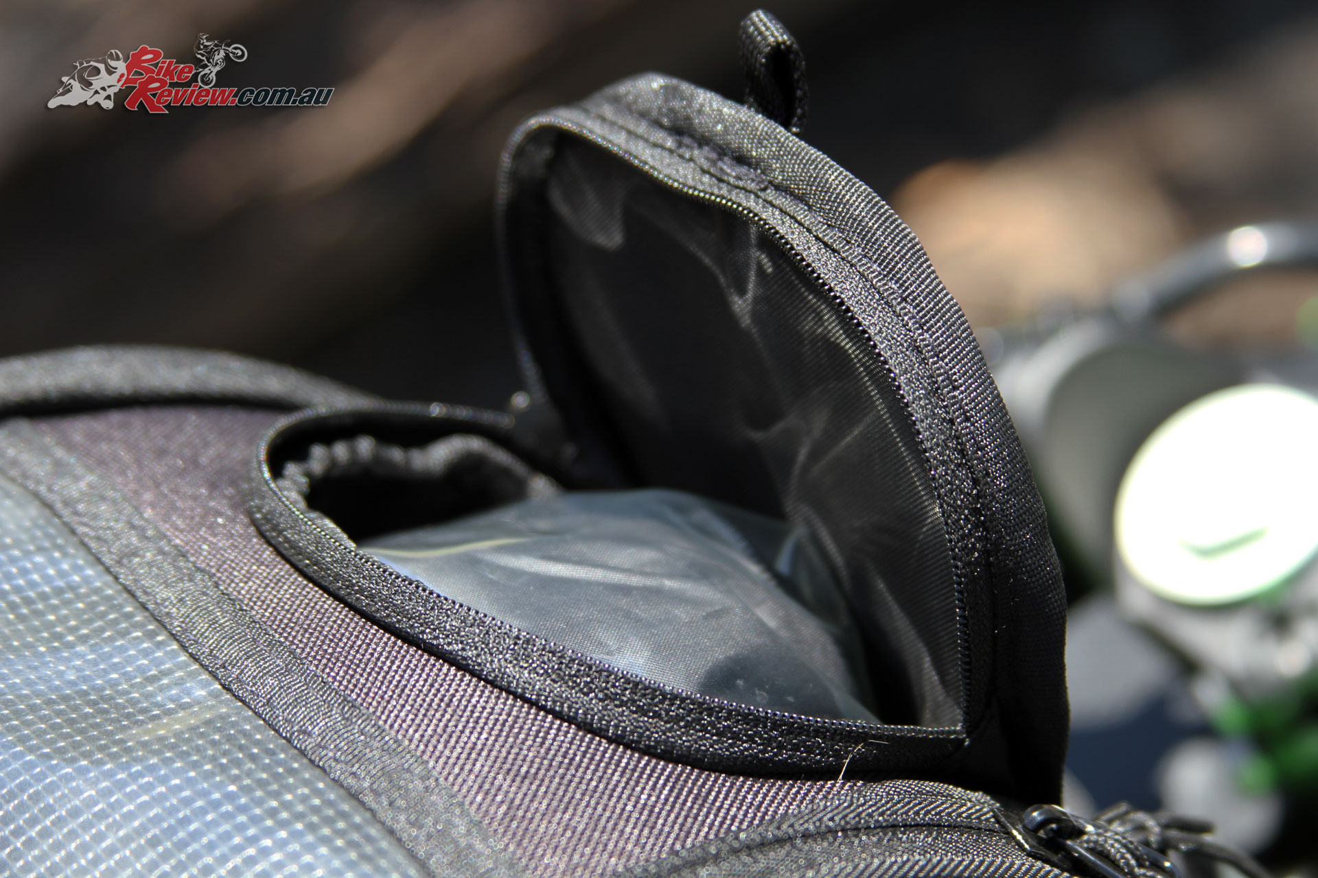 Kawasaki Genuine Tank Bag - A waterproof cover is also included with its own pouch