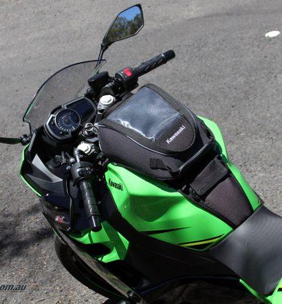 Kawasaki genuine Tank Bag on our Long Term Ninja 400