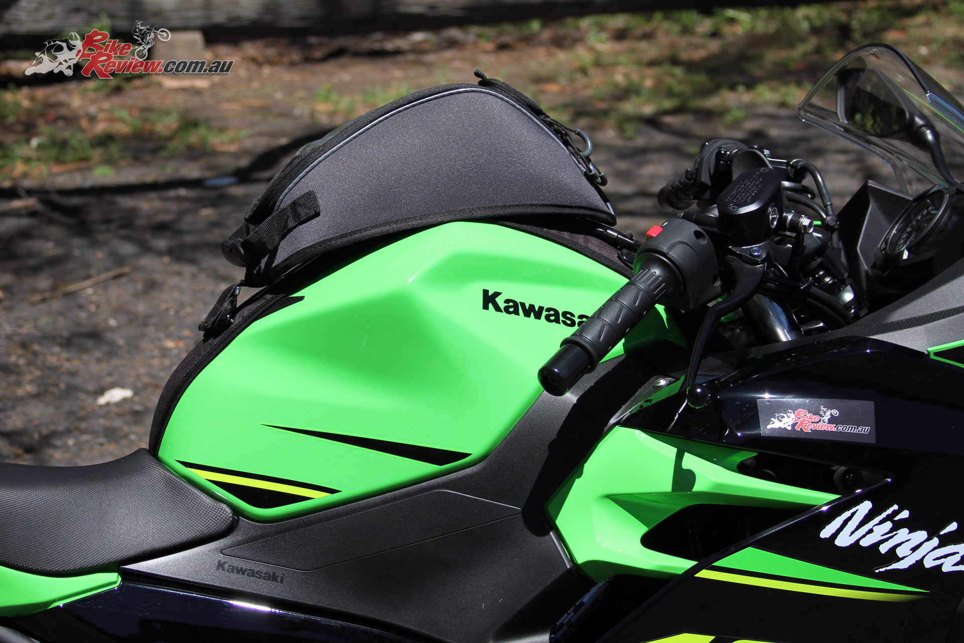 Kawasaki Genuine Tank Bag - Capacity is just 4L for a compact bag