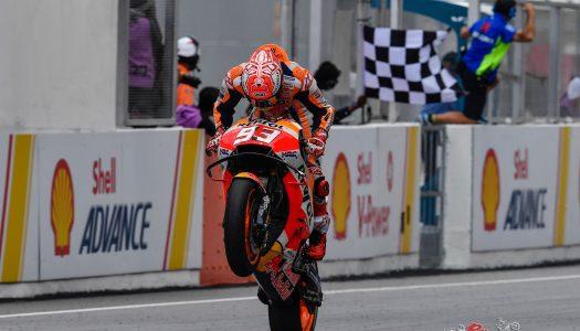 Marc Marquez wins Malaysian GP