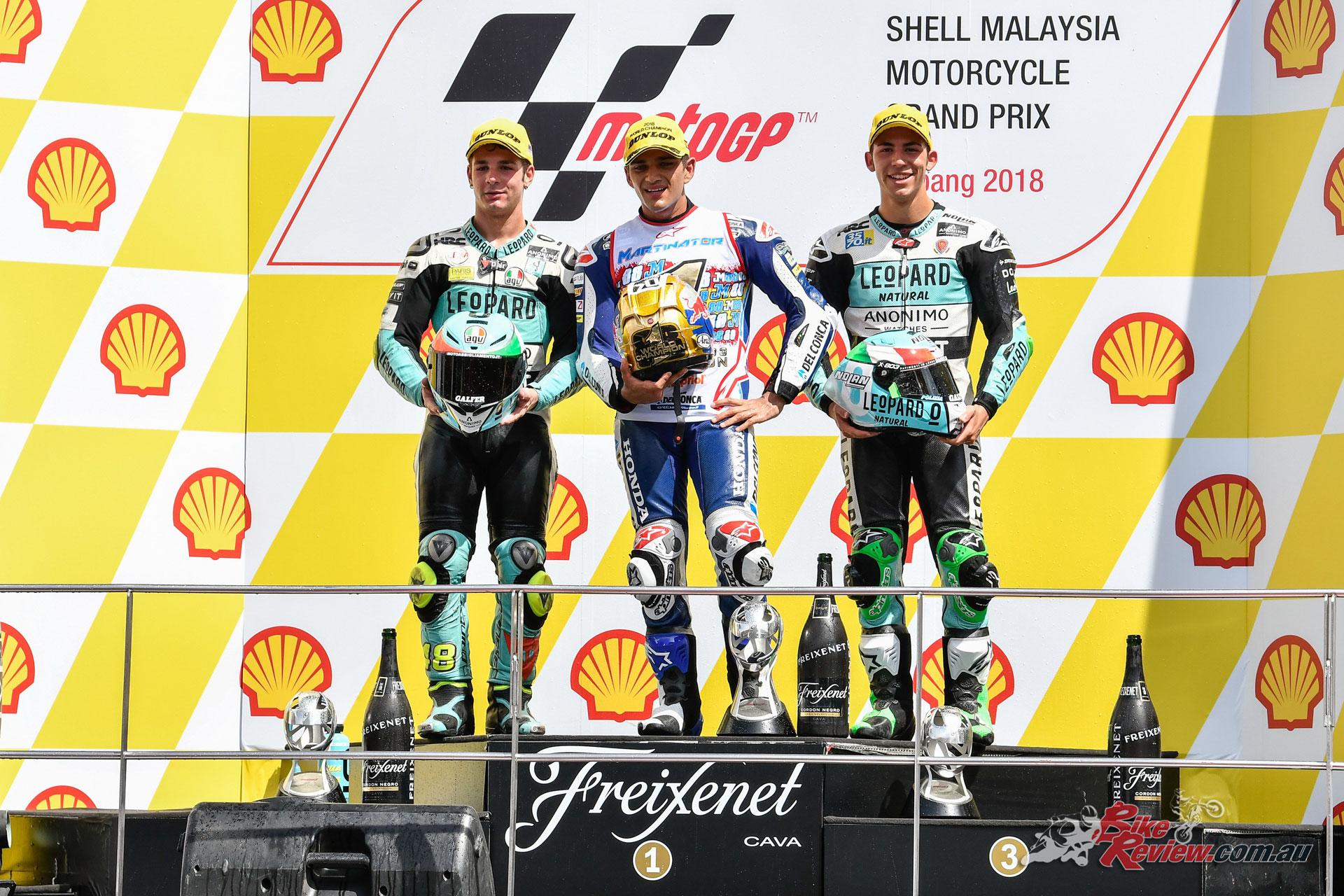 Moto3 Podium - Malaysia 2018