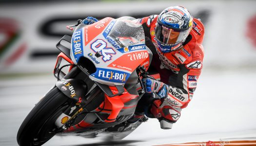 Dovizioso wins a dramatic red-flagged finale