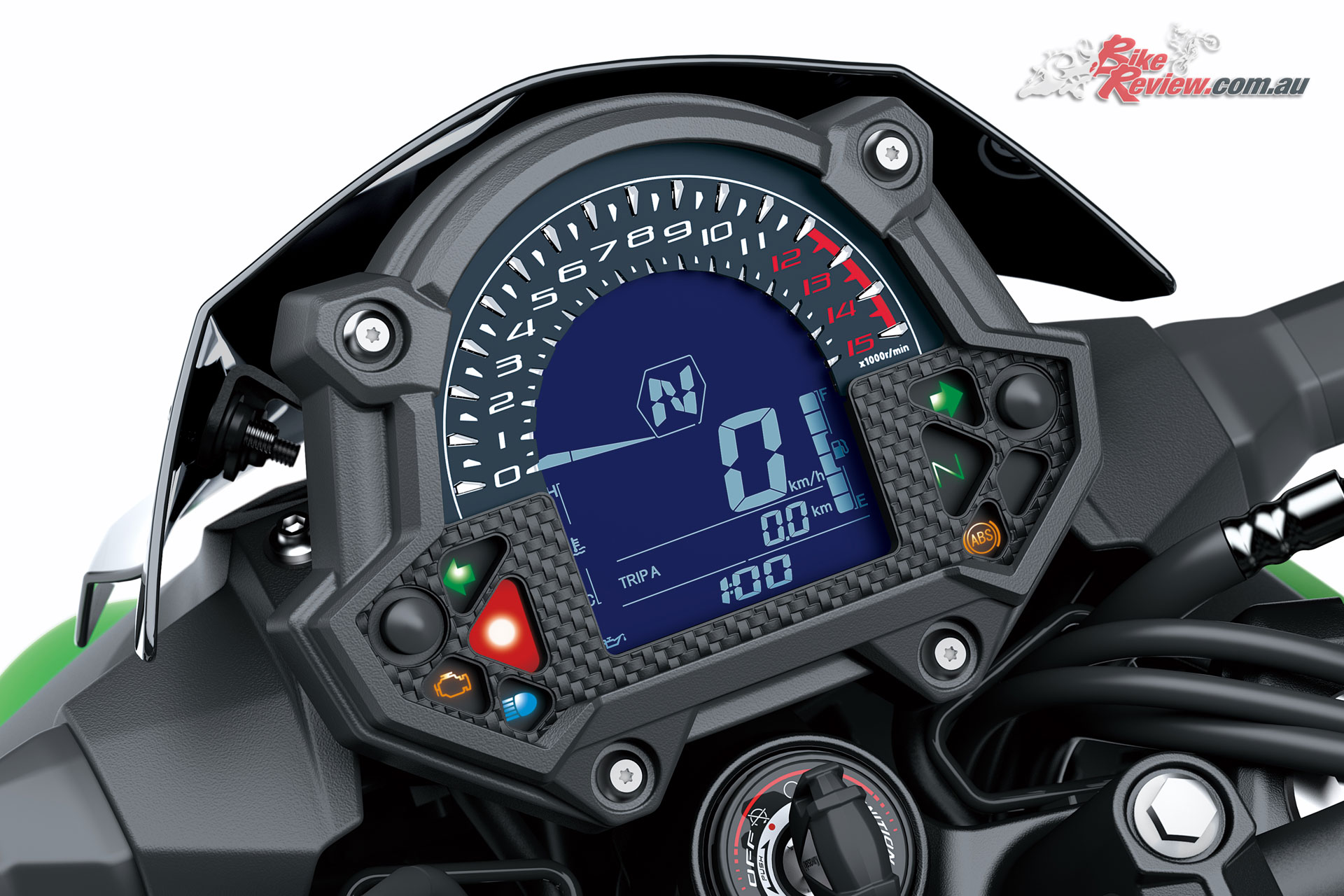 The Z400's stylish easy to read dash