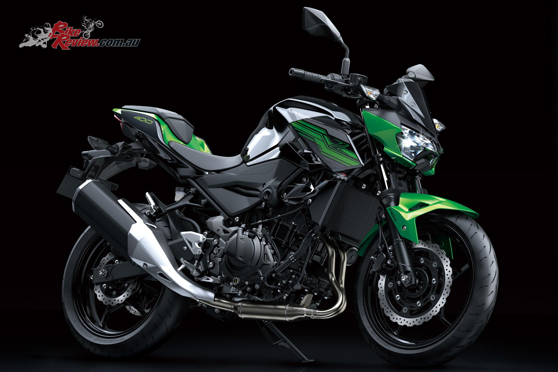 The 2019 Kawasaki Z400 LAMS features clean lines and minimalistic styling