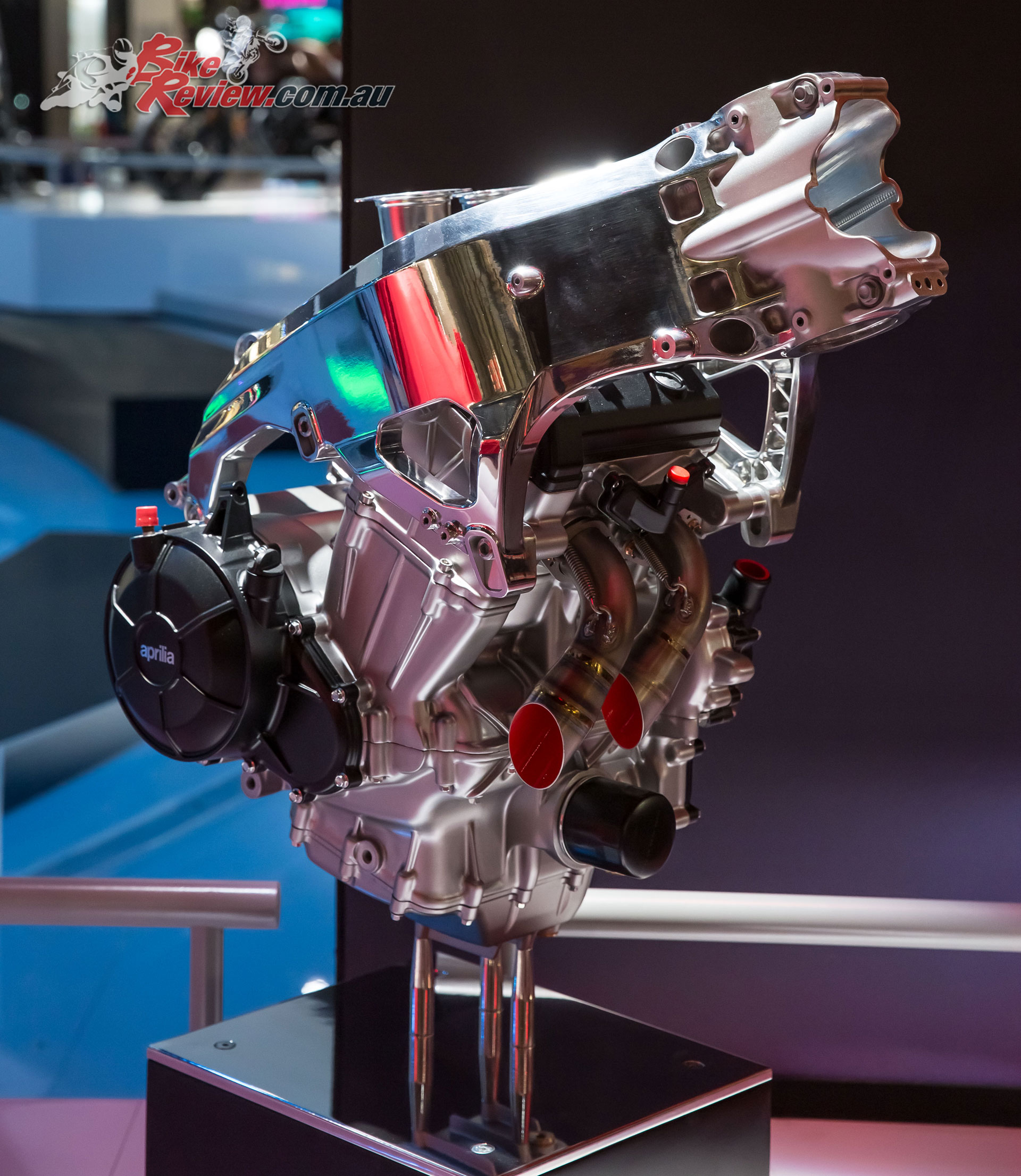 The engine is a stressed member and will be used for a range of models in the future.