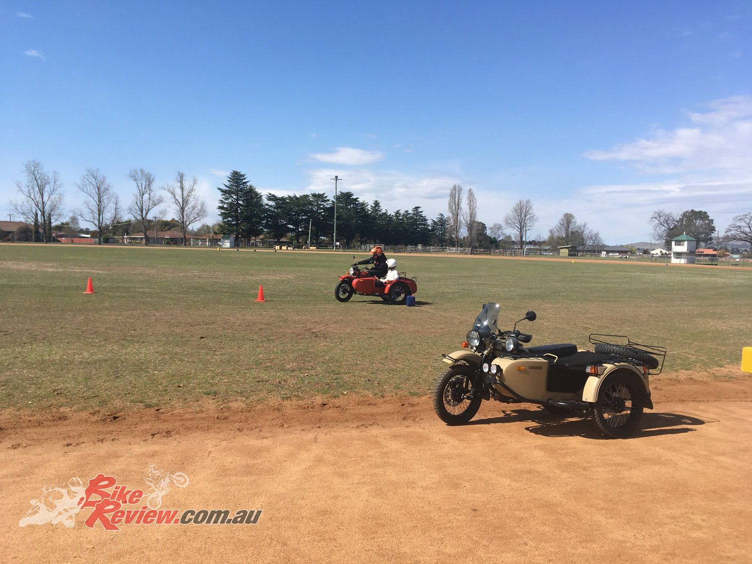 The opportunity to test a sidecar for the first time in the safety of a closed environment rather than on the open road was fantastic for those keen to have a ride.