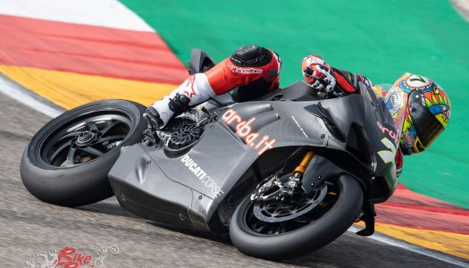 Davies debuts Panigale V4 R at Aragon Test