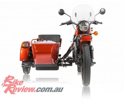 Storage, comfort and handling were not compromised with the electric Ural.