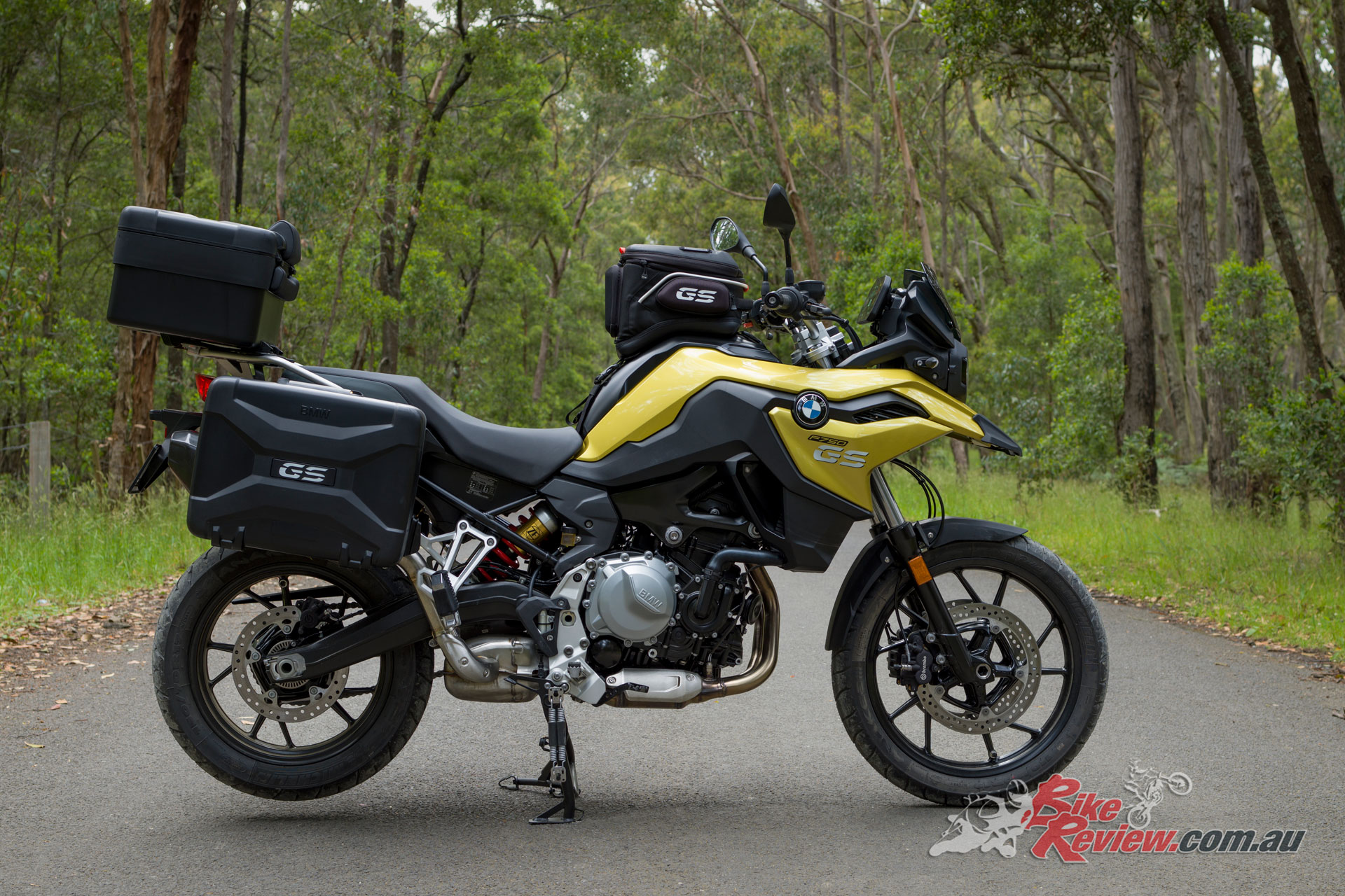 2019 BMW F 750 GS with full luggage loadout