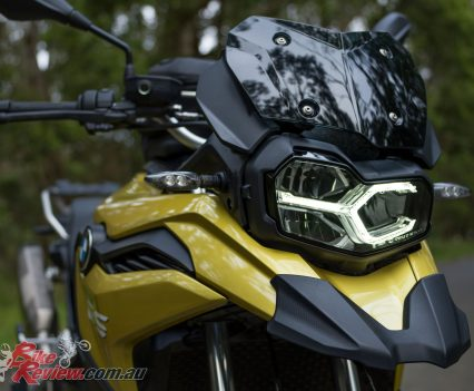 The stylish headlight and beak design are a real standout in any colour variant