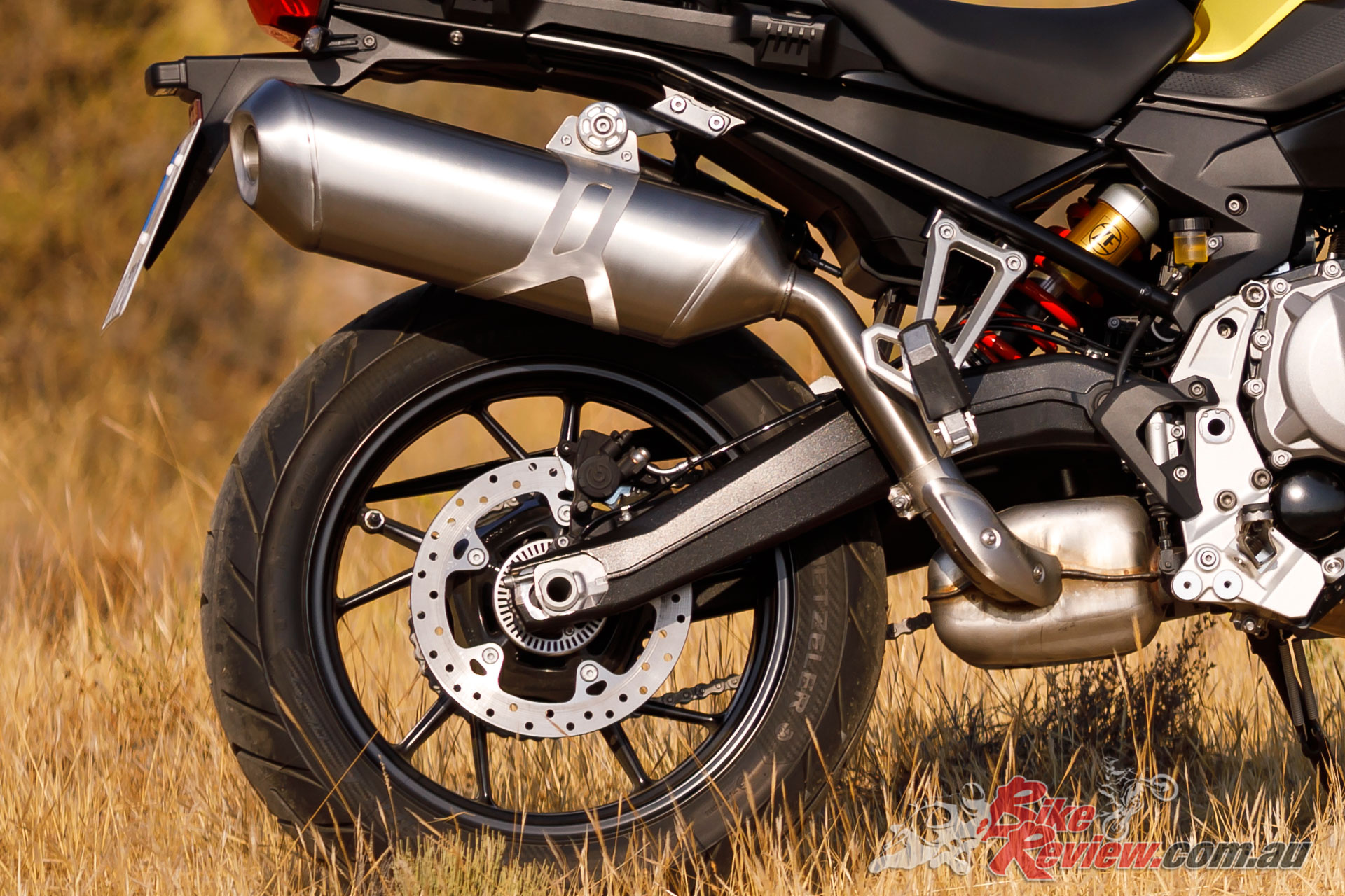 Suspension is also more compliant than the 850 and features shorter travel at both ends
