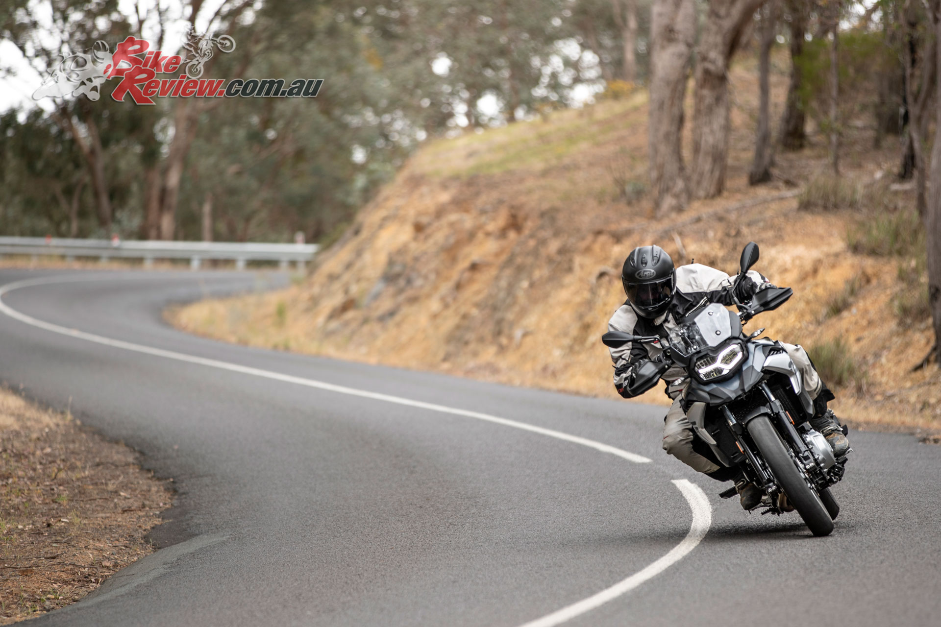 The 2019 F 750 GS is surprisingly capable through the tight twisties