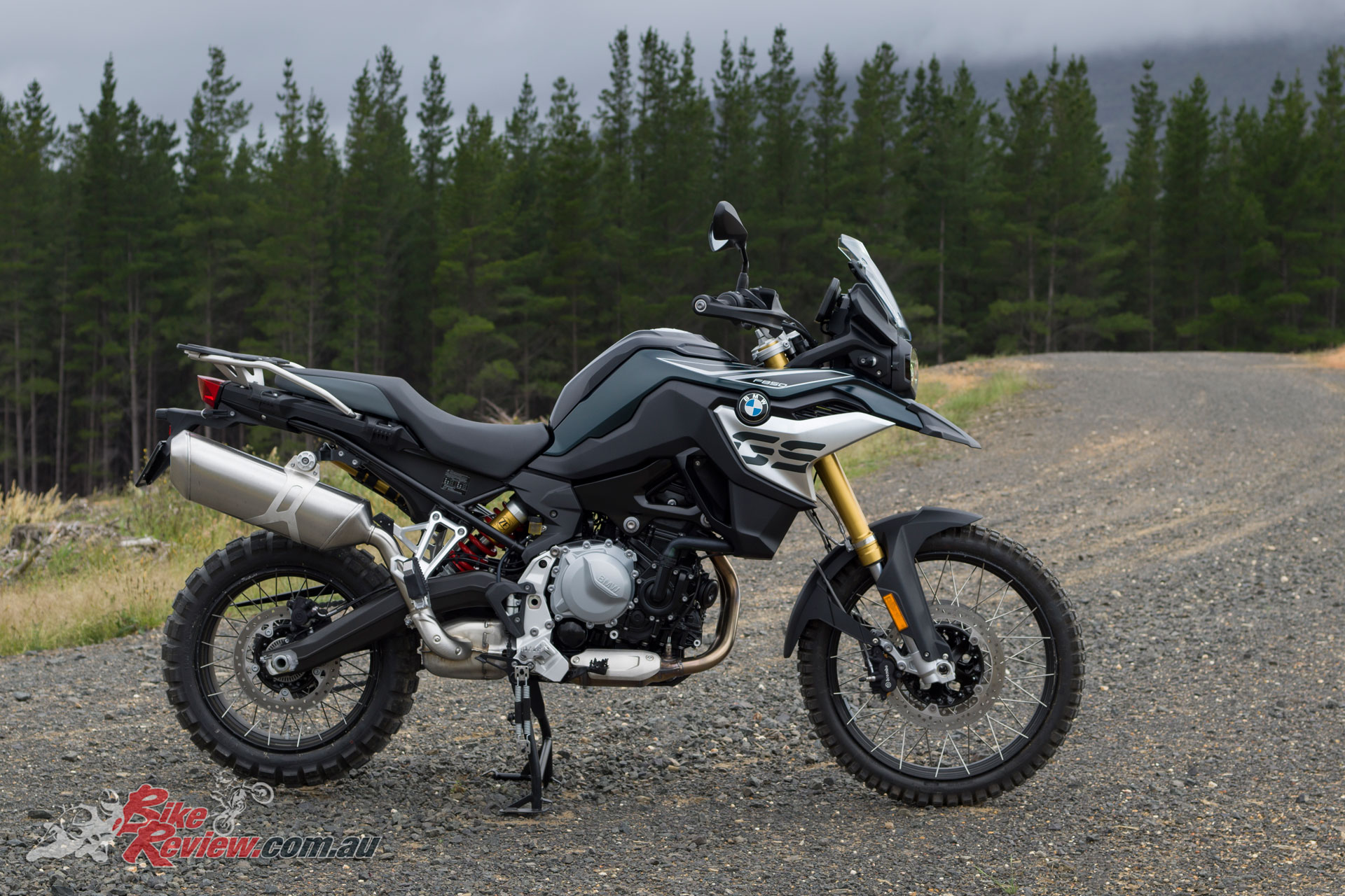 The 2019 BMW F 850 GS is a highly capable off roader. The knobbies are a zero cost option as well.