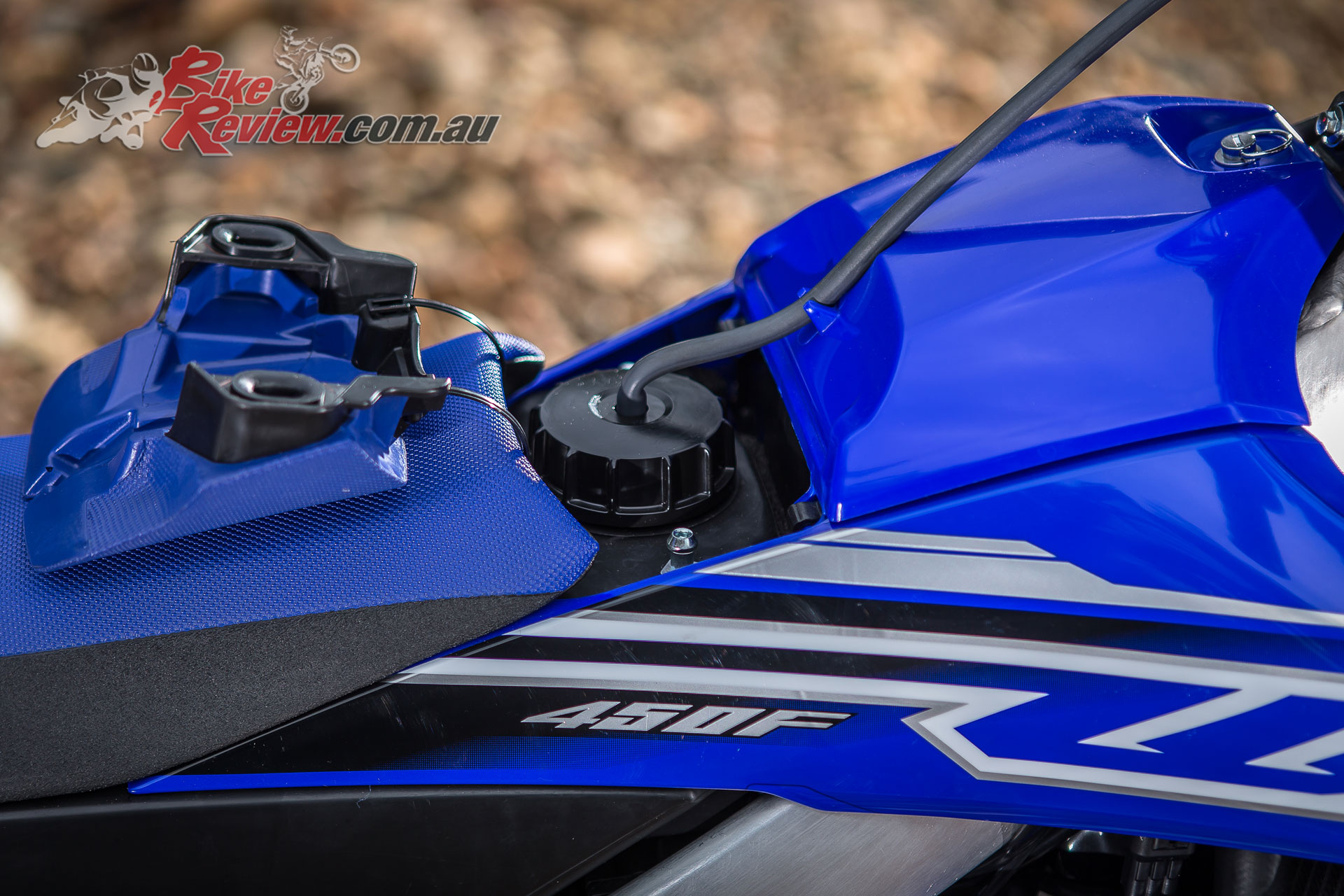 2019 Yamaha WR450F - A larger fuel tank is featured, helping lower the CoG, while the air filter is more accessible