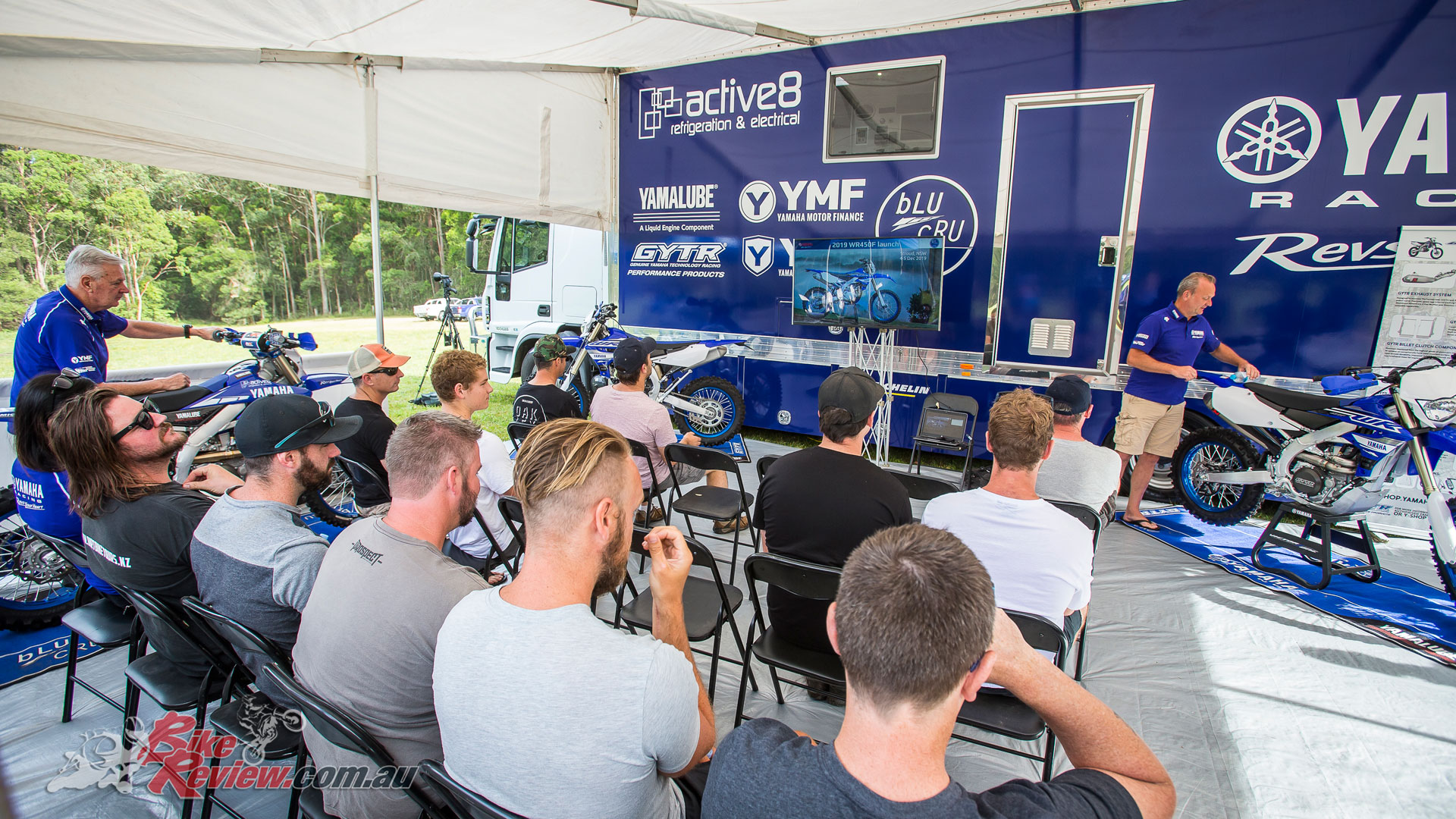 2019 Yamaha WR450F Launch - Yamaha Marketing Manager Sean Goldhawk introducing the new model